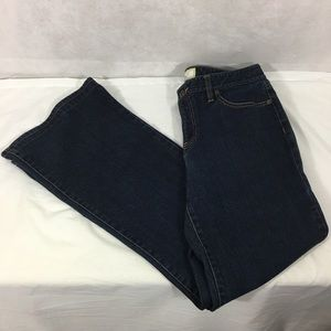 LOFT Fit and Flare Jeans Dark Wash Size 10